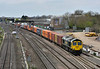 66594 trundles past Stockley Bridge with 4L31 Bristol to Tilbury Freightliner <br /> <br /> 13 April 2015