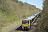 168005 speeds through Beaconsfield with 1G40 13.45 service from Marylebone to Birmingham Snow Hill<br /> <br /> 15 April 2015