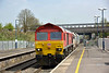 DB 59203 passes Iver at the head of 7C77 empty hoppers from Acton to Merehead<br /> <br /> 16 April 2015
