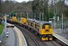 GBRf 20901/20905 halt at Virginia Water working 6Y20 SITT engineering train back to Tonbridge from Eastleigh <br /> <br /> 18 December 2015