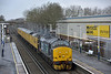 A drive across to Ashford permitted a second chance to  photograph 37402 heading 3Z23 as it worked back from Eastleigh Arlington to Derby R.T.C.<br /> <br /> 7 February 2015