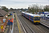 Crosslink enabling work is still in progress at Taplow as 165126 rushes by with 1K52 12.18  from Paddington to Bedwyn<br /> <br /> 2 February 2015