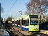 Croydon Tramlink No.2549 arriving at Ampere Way<br /> <br /> 8 January 2015