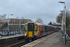458531 calls at Ashford with 2S30  the 11.03 from Weybridge  Waterloo<br /> Unfortunately it scuppered my intended shot of 1Q40 heading towards Staines a few moments later.<br /> <br /> 12 January 2015