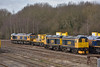 GBRf Class 66 No. 66719 'Metro-Land' and Class 20s 20901+20905 stabled at Tonbridge<br /> <br /> 4 March 2015