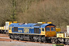 66769 and SITT stabled at Tonbridge with 66716 out of sight at the other end.<br /> <br /> 4 March 2015