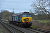 DRS duo 57310 'Pride of Cumbria' and 57011 pass Chertsey Meads working 0Z68 from Eastleigh Arlington to Willesden Brent via Woking <br /> <br /> 9 March 2015