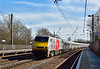 91104 is northbound through Welham Green with 1N19  the13.30  Kings Cross to Newcastle service<br /> <br /> 10 March 2015