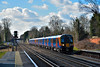 Desiro 450087 passes West Byfleet  with 2L42 the 12.54 service from  Basingstoke to Waterloo<br /> <br /> 2 March 2015