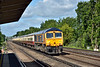 GBRf 66752 brings up the rear as 73136 and 73128 speed through Hersham taking 1Z82 'Alpine Sunbeam'  tour from Waterloo - Alton <br /> <br /> 6 June 2015