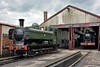 GWR 57XX Pannier No.3650 gets an airing outside the shed at Didcot<br /> <br /> GW Society, Didcot<br /> 23 June 2015