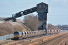 66419 drags it wagons through the loader at Hatfield Colliery, coal can just be seen pouring into the hopper under the chute.<br /> <br /> 27 March 2015