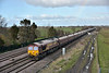 DB Stickered 66238  heads south at Colton with loaded hoppers from Redcar  to Eggborough Power Station<br /> <br /> 26 March 2015