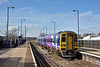 Northern 158850 halts at Hatfield with 2C20 09.52 service from Doncaster to Hull<br /> <br /> 27 March 2015
