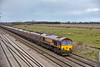 66172 passing Colton at the head of 6Z65 0935 North Blyth  to Ratcliffe Power Station loaded hoppers<br /> <br /> 26 March 2015