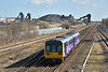 Pacer 142089  approaches Hatfield with 2P63 09.19 from Scunthorpe to Lincoln Central<br /> <br /> 27 March 2015