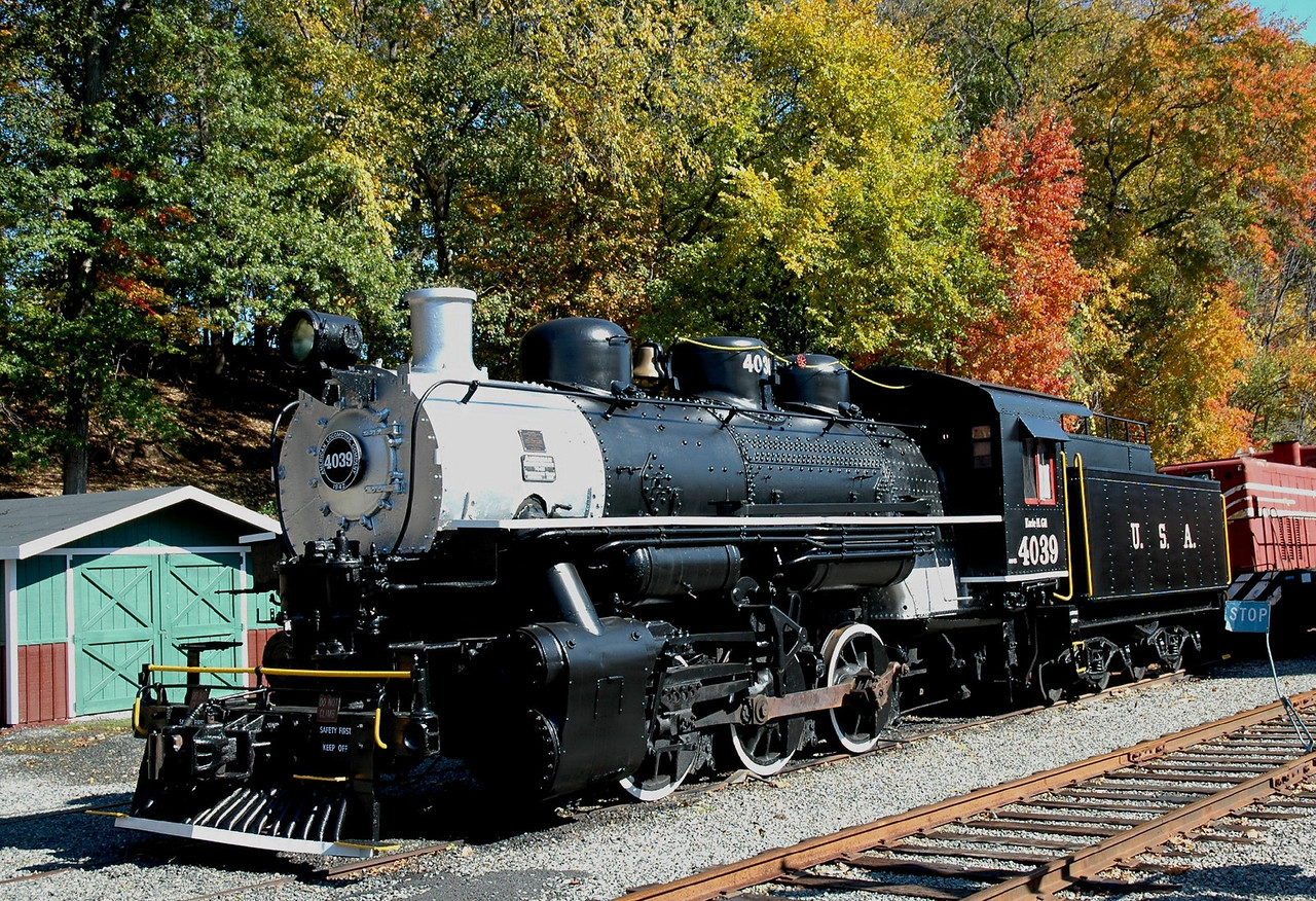 ALCO No 4039   Built  Nov 1942  for the US Army now kept at the whippany Railway Museum at whippany, N.J.