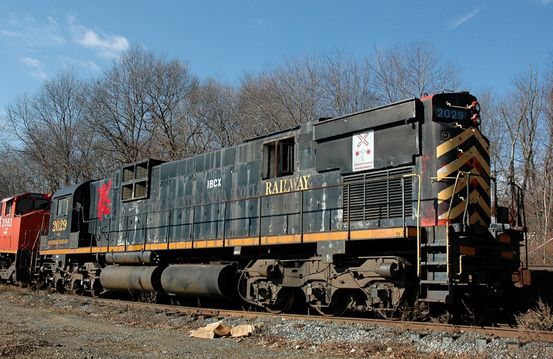 IBXC  2029  a MLW M630   Former  Cape Brenton & Nova Scotia  Locomotive in storage  at  Lake Jct.  Wharton, New Jersey