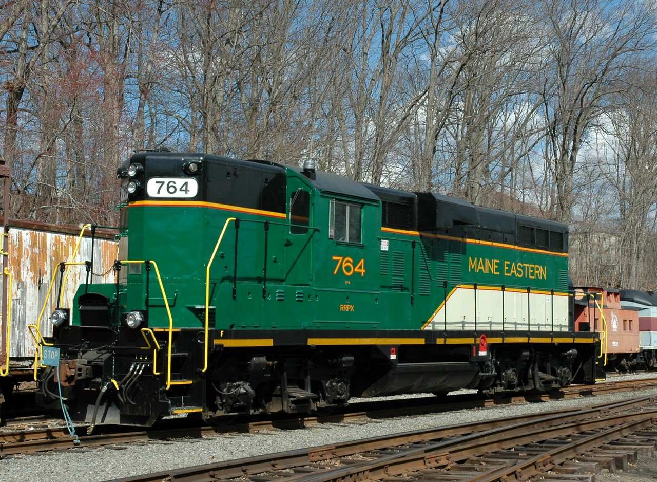 Maine Eastern GP-7  764  photo taken at  thw Whippany Railway Museum  at Whippany , N.J.