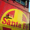 ATSF caboose # 999110 as seen at the Fullerton,CA train station.