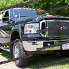 Ford F250 decked out to watch trains