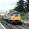 47212 and 47306 draw into Ropley on the Mid Hants railway during the May 2002 gala<br /> <br /> 28 April 2002