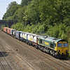 66534 takes 4L32 Bristol - Tilbury freightliner up through Sonning<br /> <br /> 1 August 2011