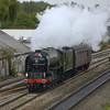 LNER A1 Class 4-6-2 No 61063 Tornado heads down the GWML at West Drayton as 5Z29 Southall-Bishops Lydeard positioning movement<br /> <br /> 18 August 2011