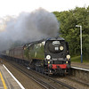 SR BoB Class 4-6-2 No 34067 Tangmere approaches Addlestone with 1Z94 The Dorset Coast Express  from Victoria-Weymouth<br /> <br /> 9 August 2011