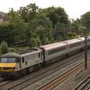 90043 takes a 'pretendolino' rake north through Kenton<br /> <br /> 5 August 2011