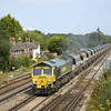 66553 powers through Worting with 6O49 Neasden - Wool hoppers<br /> <br /> 2 August 2011