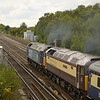 47818 + 47790 at full throttle, working 1Z57 Edinburgh to Southampton Eastern Docks<br /> <br /> 2 August 2011