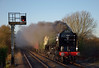 60163 Tornado leaves a pall of smoke in its wake a it storms past Gomshall with 1Z63, The Cathedrals Express from Chertsey to Ely<br /> <br /> 12 December 2011