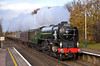 60163 Tornado passes Addlestone with The Cathedrals Express, Victoria to Sherborne Dorset<br /> <br /> 14 December 2011