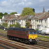 57601 cruises past the goods loop at Southampton as   0Z57 09.15 Swanage - Carnforth WCR<br /> <br /> 10  May 2011