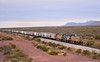 UP freight south from Albuquerque to El Paso approaches Tularosa New Mexico in poor afternoon light<br /> <br /> 19  November 2011