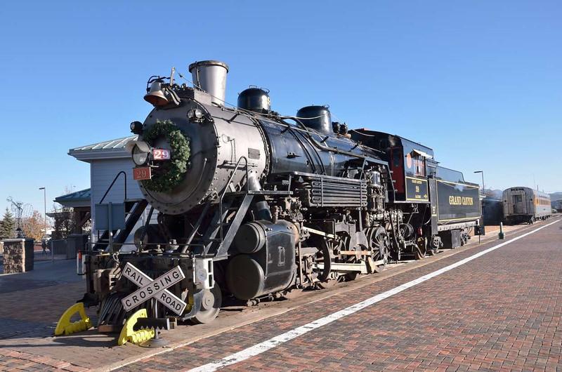 ALCO 35637 as Grand Canyon RR No:29 at Williams Arizona<br /> <br /> 22  November 2011