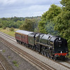 BR Class 8P 4-6-2 No 71000 Duke of Gloucester and support coach at Lower Basildon as 5Z46  -  Bristol-Fletton (NVR)<br /> <br /> 5 September 2011