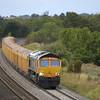 66709  hauls 6O96 10.25 Mountsorrel - Eastleigh Yd through Lower Basildon<br /> <br /> 5  September 2011