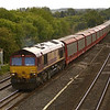 66047  passing Lower Basildon with  6M48 from Southampton Eastern Docks -Halewood<br /> <br /> 5  September 2011