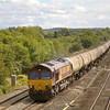 66011 drags 6E55 Theale - Lindsay empty tanks through Lower Basildon<br /> <br /> 5 September 2011