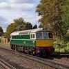 D6515 (33012) runs light through West Byfleet as 0Z33 09.00 Swanage - Barrow Hill<br /> <br /> 14 September 2011