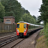 Juniper No.8019 glides past Wentworth with the 09.12 Reading - Waterloo service<br /> <br /> 13 August 2012