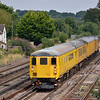 31285 propels DBSO 9702 through Worting Junction with  3Z80  the 08.52  Derby RTC - Eastleigh<br /> <br /> 9 August 2012
