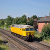 57306 ambles through Egham as 0M57  09.20  light engine move from Eastleigh RC - Loughborough Brush<br /> <br /> 9 August 2012