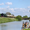 35028 Clan Line follows the Avon Kennet canal at Crofton with  1Z91 Victoria - Bristol Temple Meads<br /> <br /> 13 June 2012