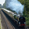 35028 Clan Line passes Kings Ride,Ascot with  1Z91 Victoria - Bristol Temple Meads<br /> <br /> 13 June 2012