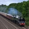 71000 Duke of Gloucester rolls through Shottesbrook with 1Z94  'The Diamond Jubilee Express' - Poole to Windsor & Eton<br /> <br /> 6 June 2012