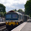 59103 passes Ashford (Mx) with 7V92 Woking - Acton stone empties<br /> <br /> 6 June 2012