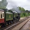 70000 Britannia passes Bagshot with 1Z88 Alresford/Alton to Cambridge & Ely<br /> <br /> 6 June 2012